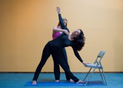 Trikonasana w/ chair